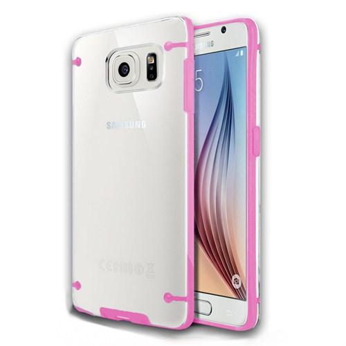 Microsonic Hybrid Transparant Samsung Galaxy S6 Kılıf Pembe