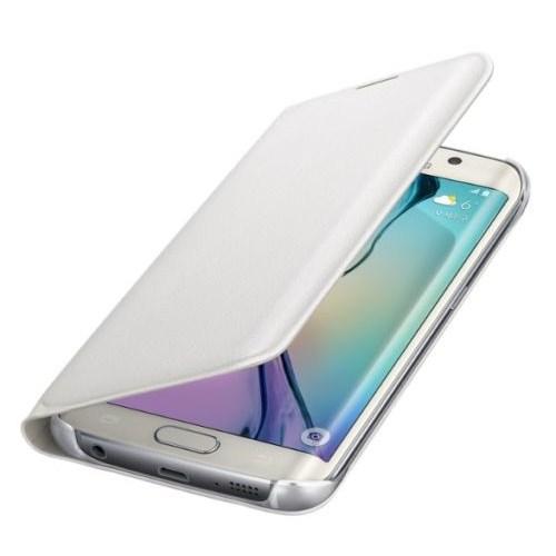Microsonic Flip Leather Samsung Galaxy S6 Edge Kapaklı Deri Kılıf Beyaz