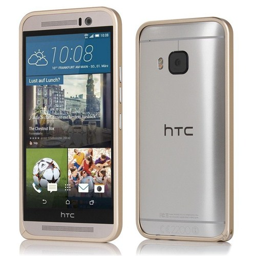 Microsonic Htc One M9 Thin Metal Çerçeve Kılıf Gold