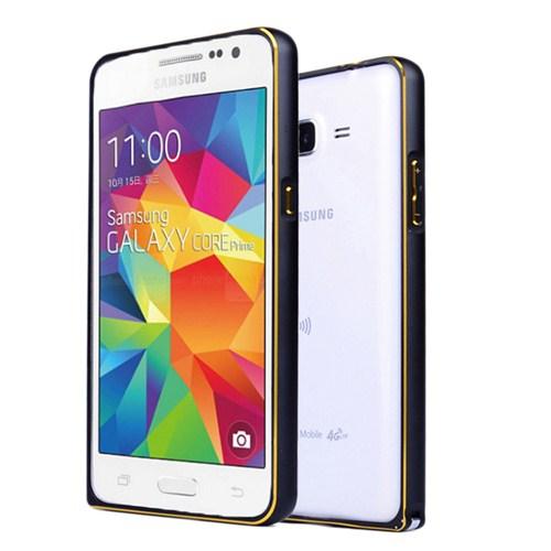 Microsonic Samsung Galaxy Core Prime Thin Metal Çerçeve Kılıf Siyah