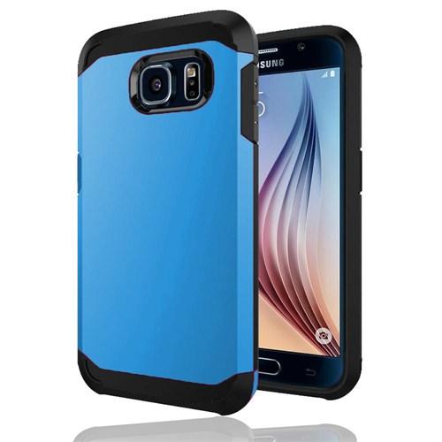 Microsonic Slim Fit Dual Layer Armor Samsung Galaxy S6 Kılıf Mavi