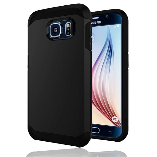 Microsonic Slim Fit Dual Layer Armor Samsung Galaxy S6 Kılıf Siyah