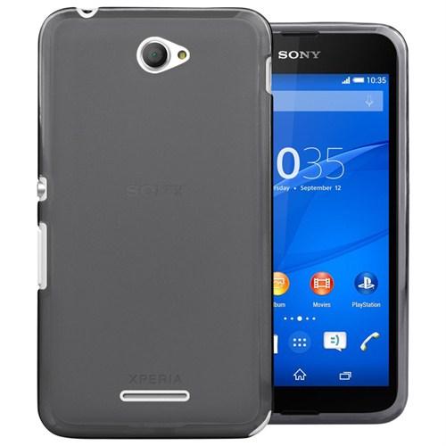 Microsonic Transparent Soft Sony Xperia E4 Kılıf Siyah