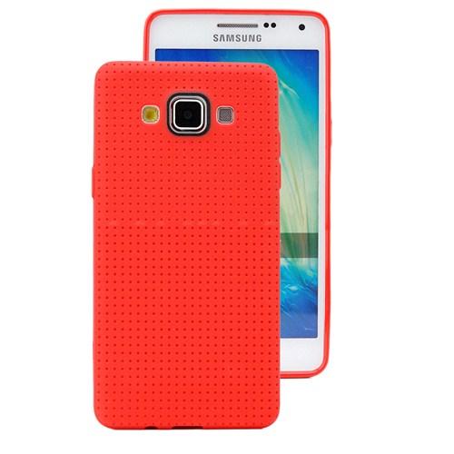 Microsonic Dot Style Silikon Samsung Galaxy A7 Kılıf Kırmızı