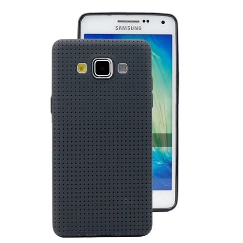 Microsonic Dot Style Silikon Samsung Galaxy E7 Kılıf Siyah