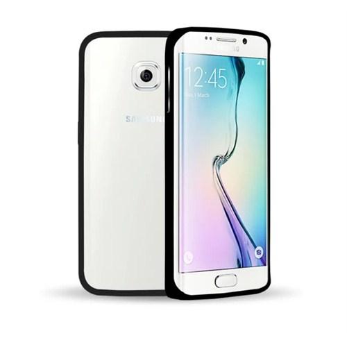 Microsonic Samsung Galaxy S6 Edge Thin Metal Çerçeve Kılıf Siyah