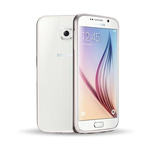 Microsonic Samsung Galaxy S6 Thin Metal Çerçeve Kılıf Gümüş