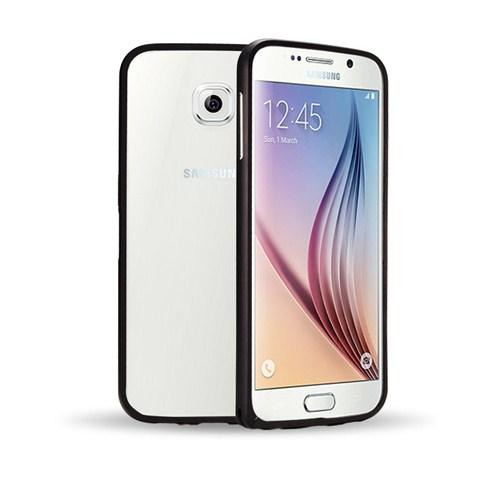 Microsonic Samsung Galaxy S6 Thin Metal Çerçeve Kılıf Siyah