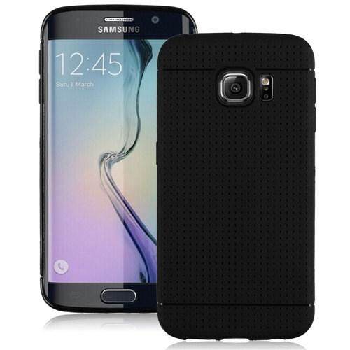 Microsonic Dot Style Silikon Samsung Galaxy S6 Edge Kılıf Siyah