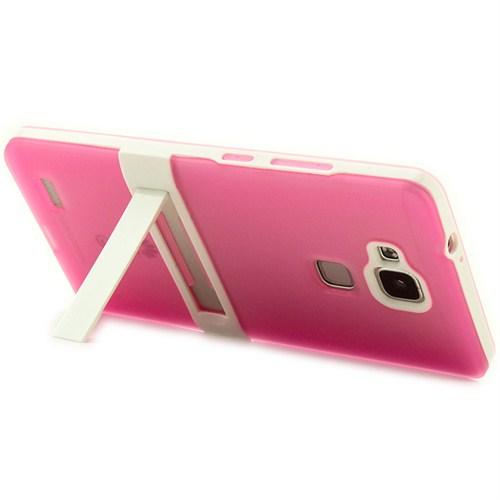 Microsonic Standlı Soft Huawei Ascend Mate 7 Pembe