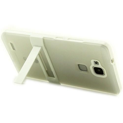 Microsonic Standlı Soft Huawei Ascend Mate 7 Beyaz