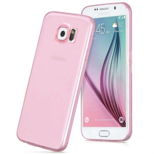 Microsonic Transparent Soft Samsung Galaxy S6 Kılıf Pembe