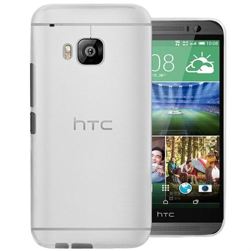 Microsonic Transparent Soft Htc One M9 Kılıf Beyaz