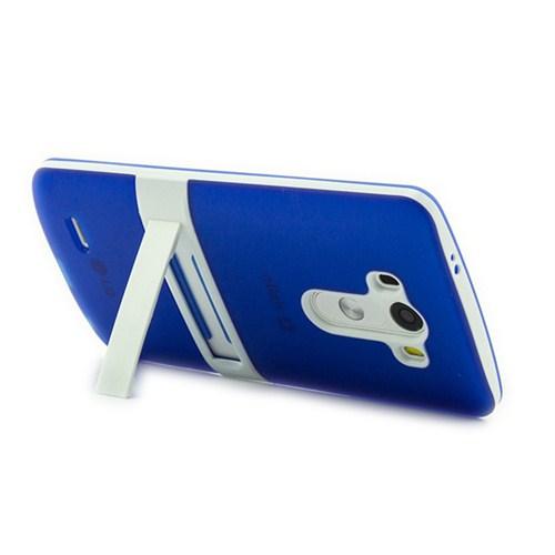 Microsonic Standlı Soft Lg G3 Kılıf Mavi