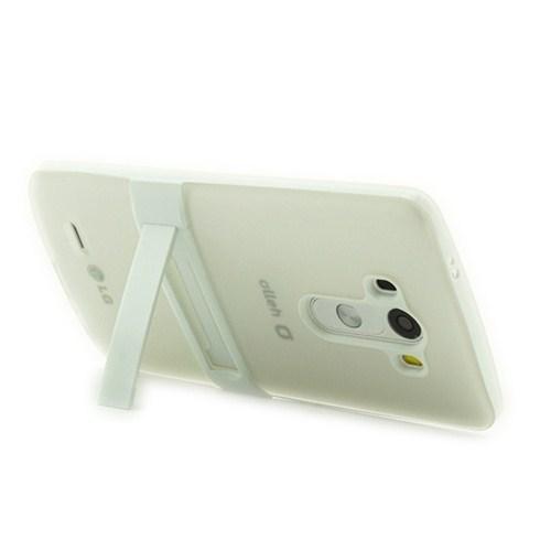 Microsonic Standlı Soft Lg G3 Kılıf Beyaz
