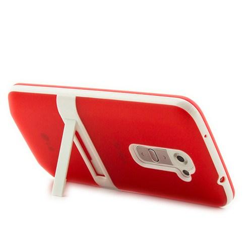 Microsonic Standlı Soft Lg G2 Kılıf Kırmızı