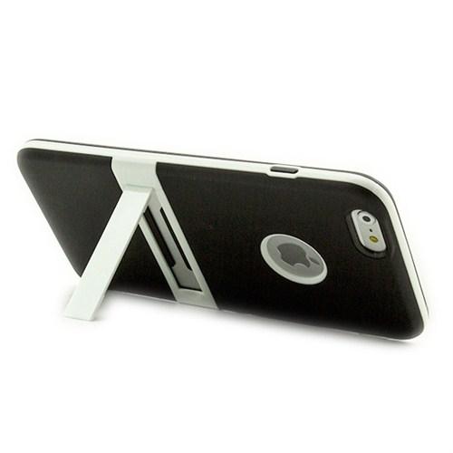 Microsonic Standlı Soft İphone 6 (4.7'') Kılıf Siyah
