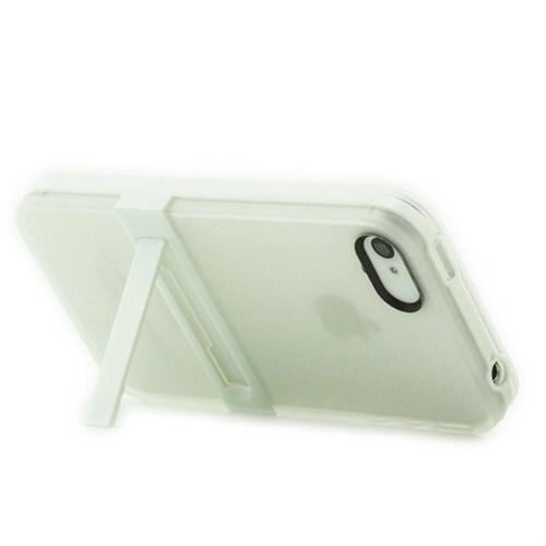 Microsonic Standlı Soft İphone 4S Kılıf Beyaz