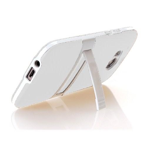 Microsonic Standlı Soft Htc One M8 Kılıf Beyaz