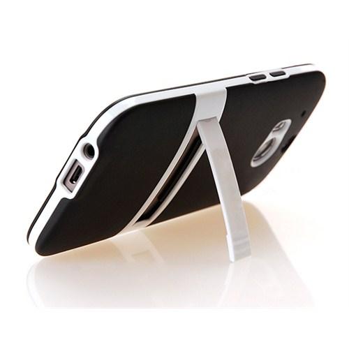 Microsonic Standlı Soft Htc One M8 Kılıf Siyah