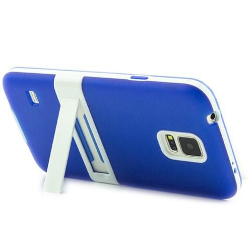 Microsonic Standlı Soft Samsung Galaxy S5 Kılıf Mavi