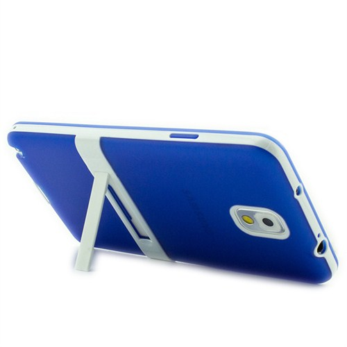 Microsonic Standlı Soft Samsung Galaxy Note 3 Kılıf Mavi
