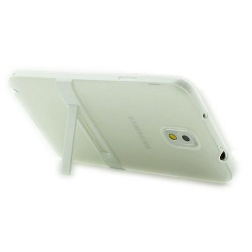 Microsonic Standlı Soft Samsung Galaxy Note 3 Kılıf Beyaz