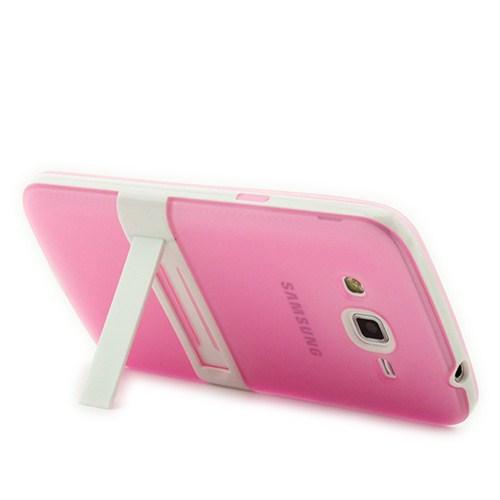 Microsonic Standlı Soft Samsung Galaxy Grand 2 Kılıf Pembe
