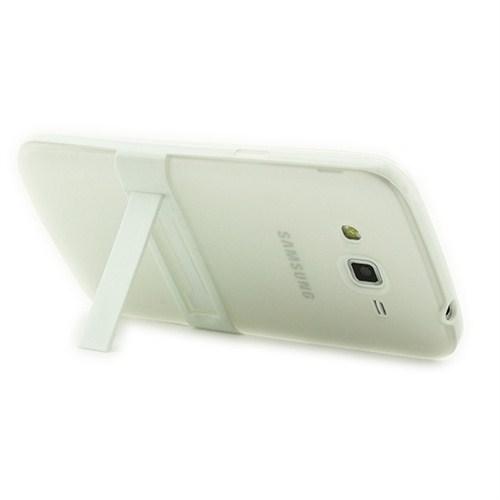 Microsonic Standlı Soft Samsung Galaxy Grand 2 Kılıf Beyaz