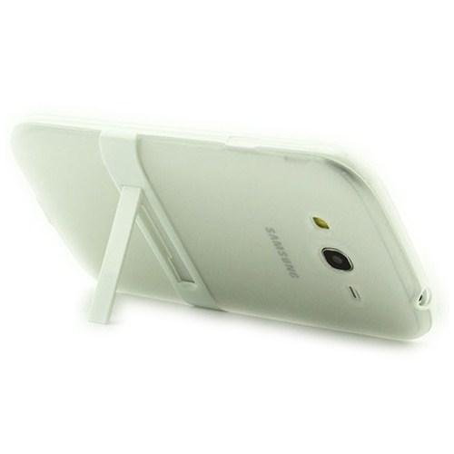 Microsonic Standlı Soft Samsung Galaxy Grand İ9082 Kılıf Beyaz
