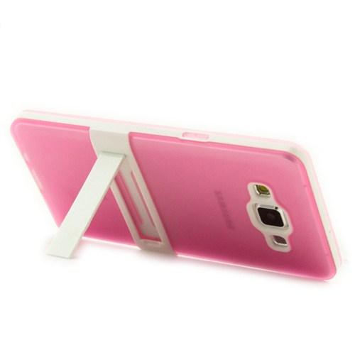 Microsonic Standlı Soft Samsung Galaxy A5 Kılıf Pembe