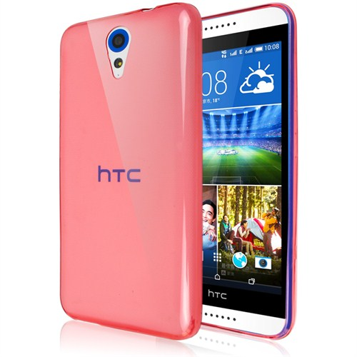 Microsonic Transparent Soft Htc Desire 620 Kılıf Kırmızı