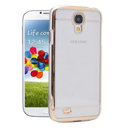 Microsonic Metalik Transparent Samsung Galaxy S4 Kılıf Altın Sarısı