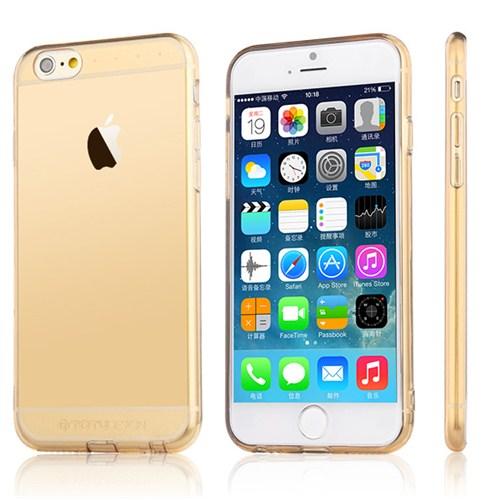 TotuDesign Apple iPhone 6 Kılıf Gold Soft Series Transparant Thin