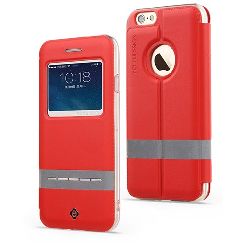 TotuDesign Apple iPhone 6 Plus Kılıf Red Touch Series
