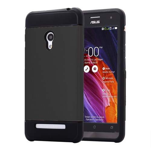 Microsonic Slim Fit Dual Layer Armor Asus Zenfone 5 Kılıf Siyah