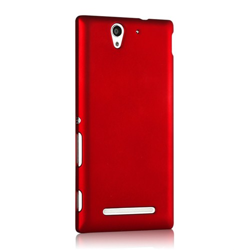 Microsonic Premium Slim Sony Xperia C3 Kılıf Kırmızı