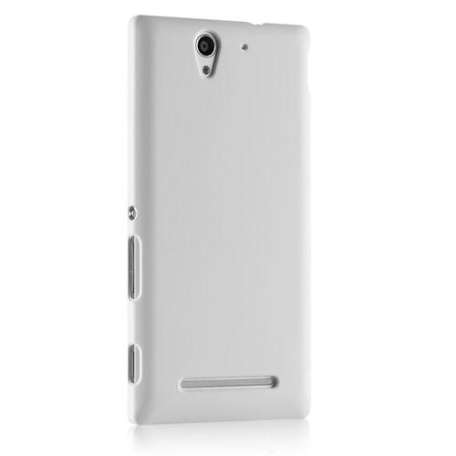Microsonic Premium Slim Sony Xperia C3 Kılıf Beyaz