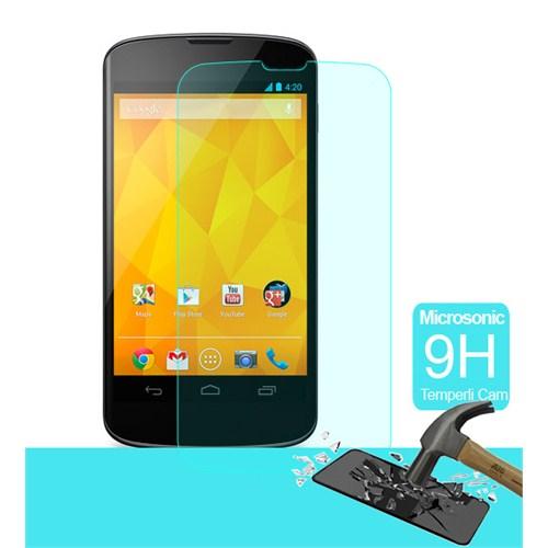 Microsonic Temperli Cam Ekran Koruyucu Lg Nexus 4 Film
