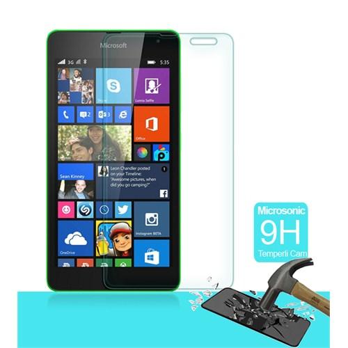 Microsonic Temperli Cam Ekran Koruyucu Mirosoft Lumia 535 Film