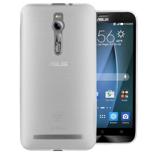 Microsonic Transparent Soft Asus Zenfone 2 (5.5'') Kılıf Beyaz