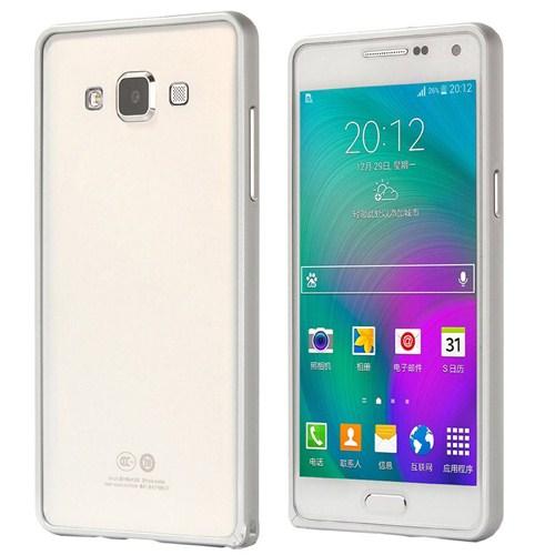 Microsonic Samsung Galaxy A3 Thin Metal Çerçeve Kılıf Gümüş