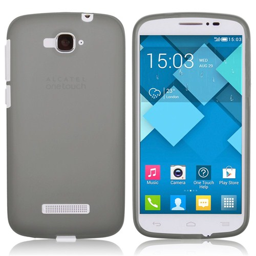 Microsonic Transparent Soft Alcatel One Touch Pop C7 Kılıf Siyah