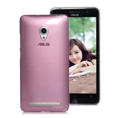 Microsonic Transparent Soft Asus Zenfone 5 Lite Kılıf Pembe