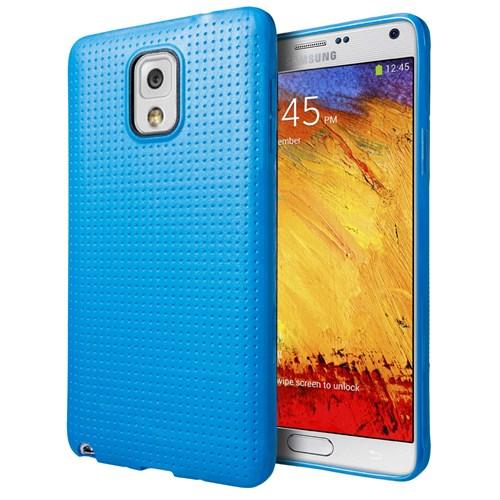 Microsonic Dot Style Silikon Samsung Galaxy Note 3 Kılıf Mavi