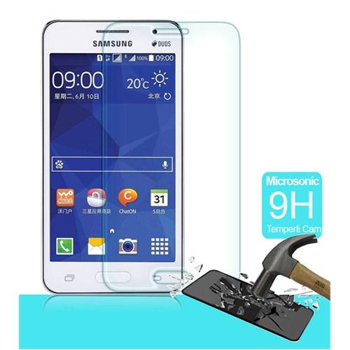 Microsonic Temperli Cam Ekran Koruyucu Samsung Galaxy Core 2 Kırılmaz Film
