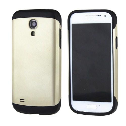 Microsonic Slim Fit Dual Layer Armor Samsung Galaxy S4 Mini Kılıf Sarı