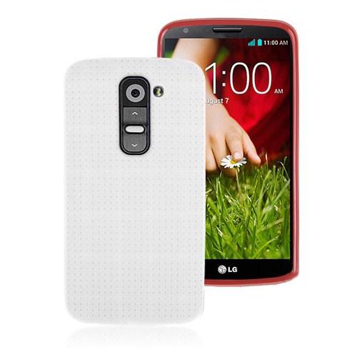 Microsonic Dot Style Silikon Lg G2 Kılıf Beyaz