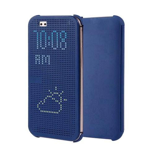 Microsonic View Cover Dot Delux Kapaklı Htc Desire Eye Kılıf Akıllı Modlu Mavi