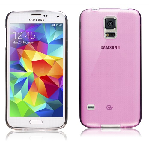 Microsonic Transparent Soft Samsung Galaxy S5 Kılıf Pembe